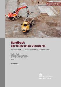 Handbuch der belasteten Standorte