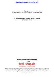 Handbuch der GmbH & Co. KG