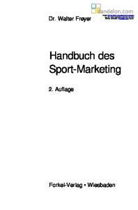 Handbuch des Sport-Marketing