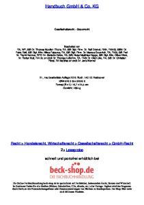 Handbuch GmbH & Co. KG