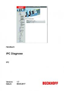 Handbuch. IPC Diagnose IPC. Version: Datum: