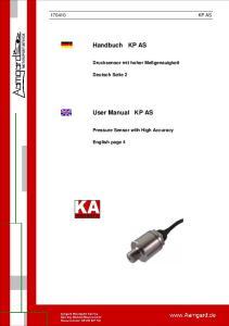 Handbuch KP AS. User Manual KP AS