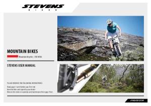 HANDBUCH MOUNTAIN BIKES STEVENS USER MANUAL. Mountain-bicycles EN 14766