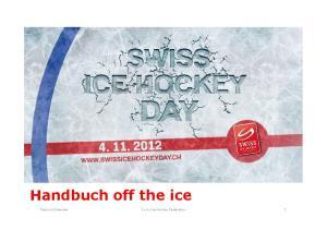 Handbuch off the ice. Patricia Gmeinder Swiss Ice Hockey Federation
