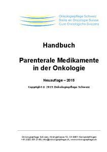 Handbuch. Parenterale Medikamente in der Onkologie