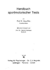 Handbuch sportmotorischer Tests