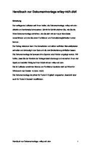 Handbuch zur Dokumentvorlage wiley-vch.dot