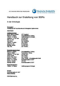 Handbuch zur Erstellung von SOPs