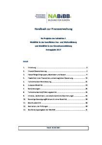 Handbuch zur Finanzverwaltung