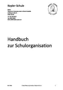 Handbuch zur Schulorganisation