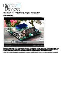 Handbuch zur TV-Software Digital Devices TV