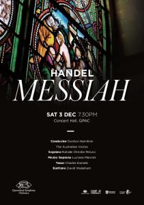 HANDEL SAT 3 DEC 7.30PM. Concert Hall, QPAC