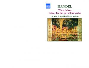 HANDEL. Water Music Music for the Royal Fireworks. Aradia Ensemble Kevin Mallon