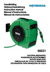 Handleiding Gebrauchsanleitung Instruction manual Manuel d instructions Manual de instrucciones