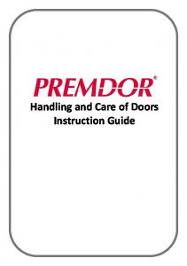 Handling and Care of Doors Instruction Guide