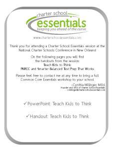 Handout: Teach Kids to Think