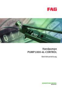Handpumpe PUMP1000-4L-CONTROL. Betriebsanleitung