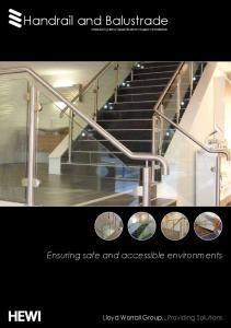 Handrail and Balustrade