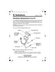 Handsfree Speakerphone Car Kit
