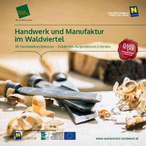 Handwerk und Manufaktur im Waldviertel