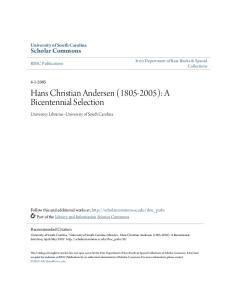 Hans Christian Andersen ( ): A Bicentennial Selection