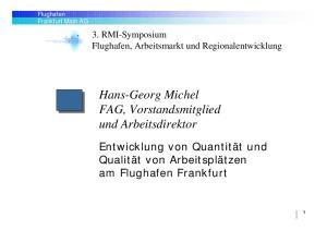 Hans-Georg Michel FAG, Vorstandsmitglied und Arbeitsdirektor