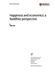 Happiness and economics: a Buddhist perspective