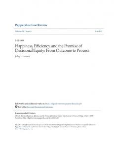 Happiness, Efficiency, and the Promise of Decisional Equity: From Outcome to Process