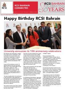 Happy Birthday RCSI Bahrain