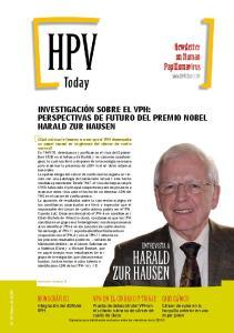 Harald zur Hausen. Newsletter on Human Papillomavirus. entrevista a