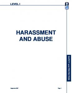 HARASSMENT AND ABUSE