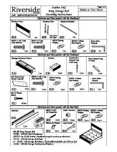 Harbor Hill King Storage Bed Assembly Instructions. 8 pcs. 8 pcs. 8 pcs. 8 pcs