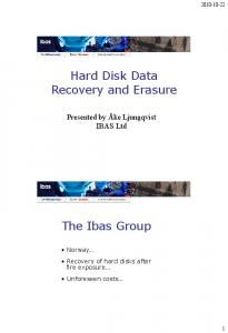 Hard Disk Data Recovery and Erasure