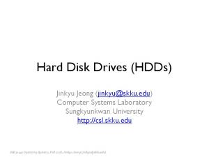 Hard Disk Drives (HDDs)