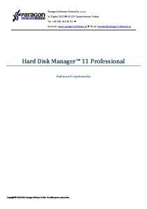 Hard Disk Manager 11 Professional