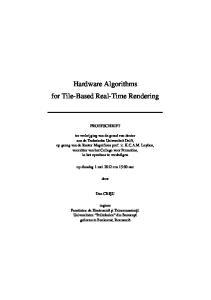 Hardware Algorithms for Tile-Based Real-Time Rendering