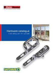 Hardware catalogue. In-line sliding patio door specialist