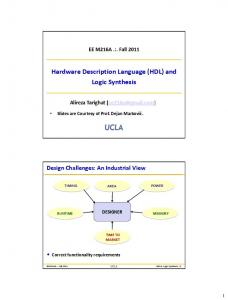 Hardware Description Language (HDL) and Logic Synthesis