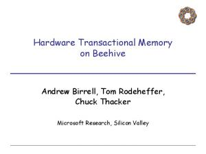 Hardware Transactional Memory on Beehive