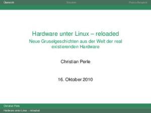 Hardware unter Linux reloaded