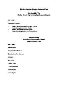 Harlan County Comprehensive Plan