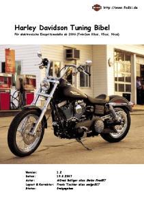 Harley Davidson Tuning Bibel