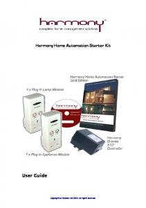 Harmony Home Automation Starter Kit User Guide