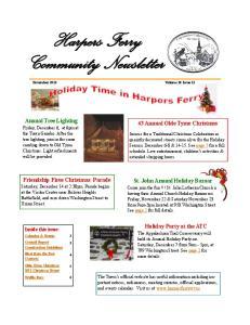 Harpers Ferry Community Newsletter November 2013 Volume 10 Issue 11