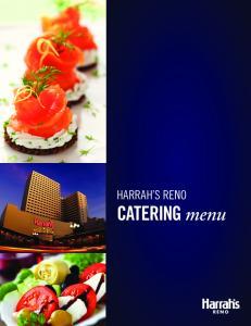 HARRAH S RENO CATERING menu