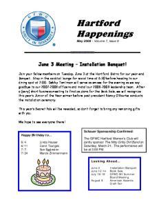 Hartford Happenings May Volume 7, Issue 9