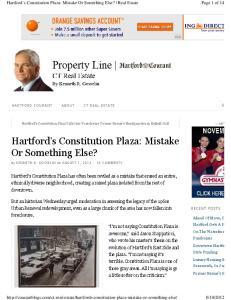 Hartford s Constitution Plaza: Mistake Or Something Else?
