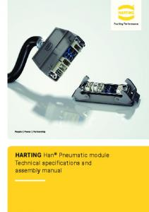 HARTING Han Pneumatic module Technical specifications and assembly manual