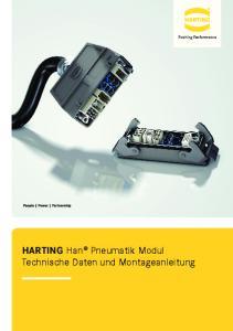 HARTING Han Pneumatik Modul Technische Daten und Montageanleitung