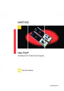 HARTING. Han-Port. Interfaces for Power and Signals. People Power Partnership. Han Data Sheet 0156